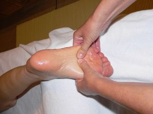 Foot massage by New Dawn Therapies in Gloucester